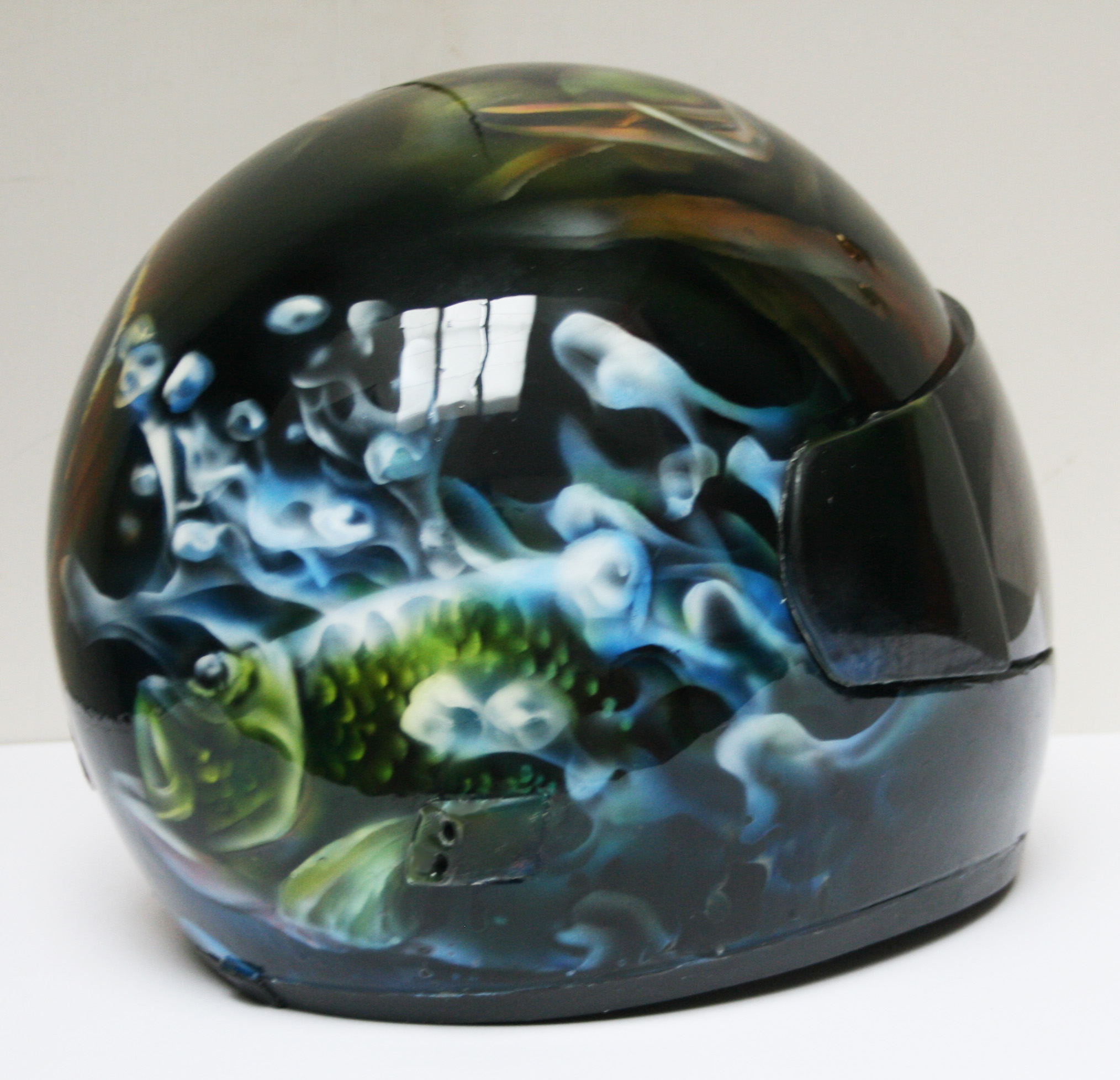 Custom Airbrushed Motorcycle Helmets